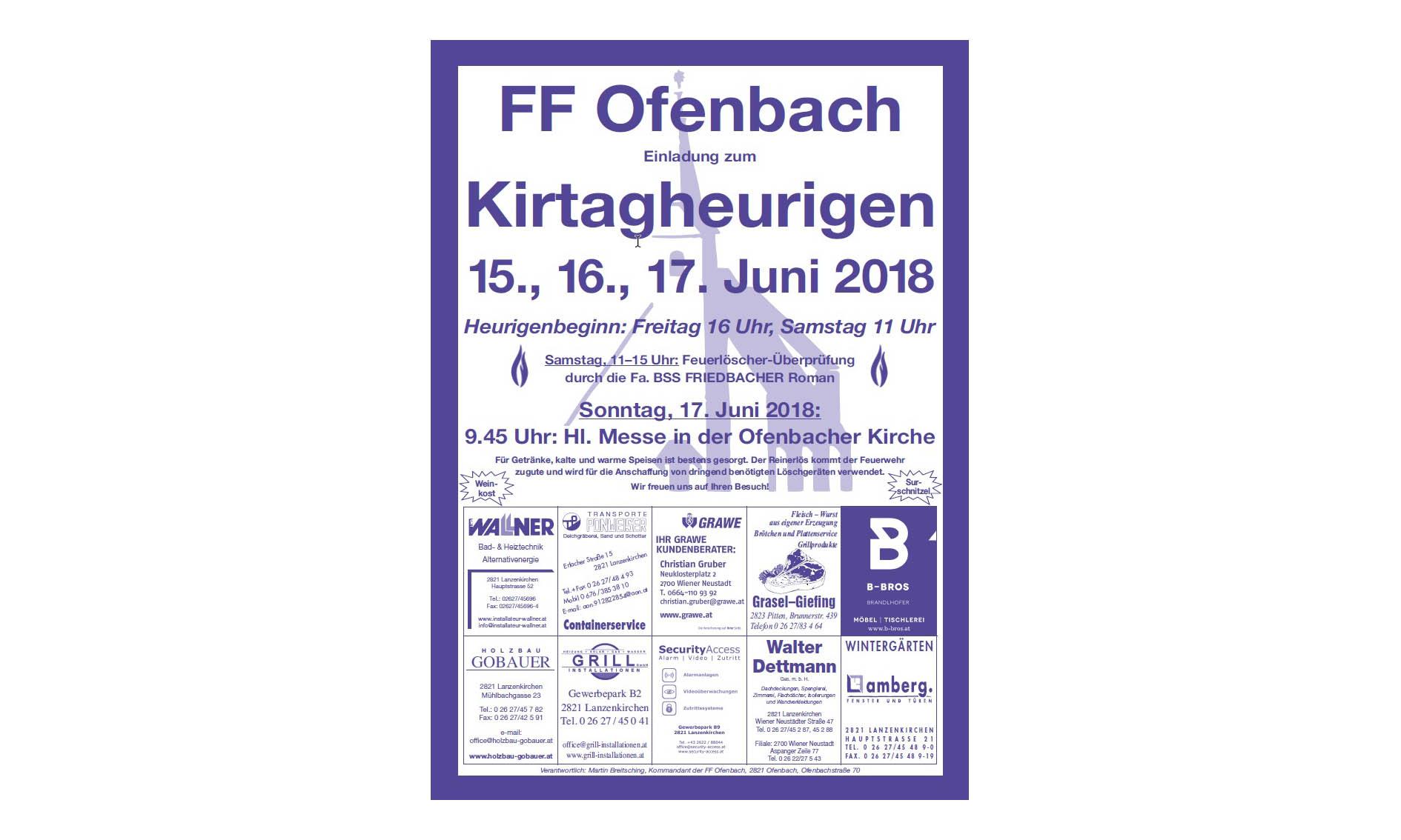 Kirtagheurigen der FF Ofenbach